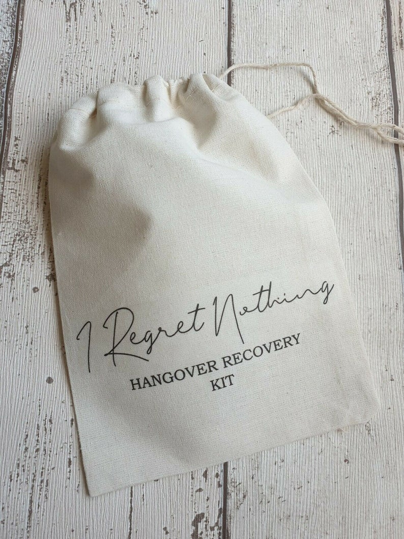 I Regret Nothing Wedding Recovery Kit | 100 Cheap Wedding Favour Ideas For Under £1 Each! | realwedding.co.uk