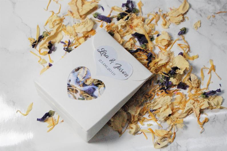 Biodegradable Confetti Packet | 100 Cheap Wedding Favour Ideas For Under £1 Each! | realwedding.co.uk