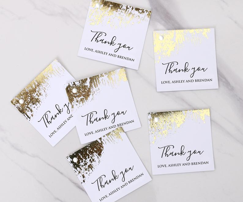 Gold Wedding Favors | 100 Cheap Wedding Favour Ideas For Under £1 Each! | realwedding.co.uk