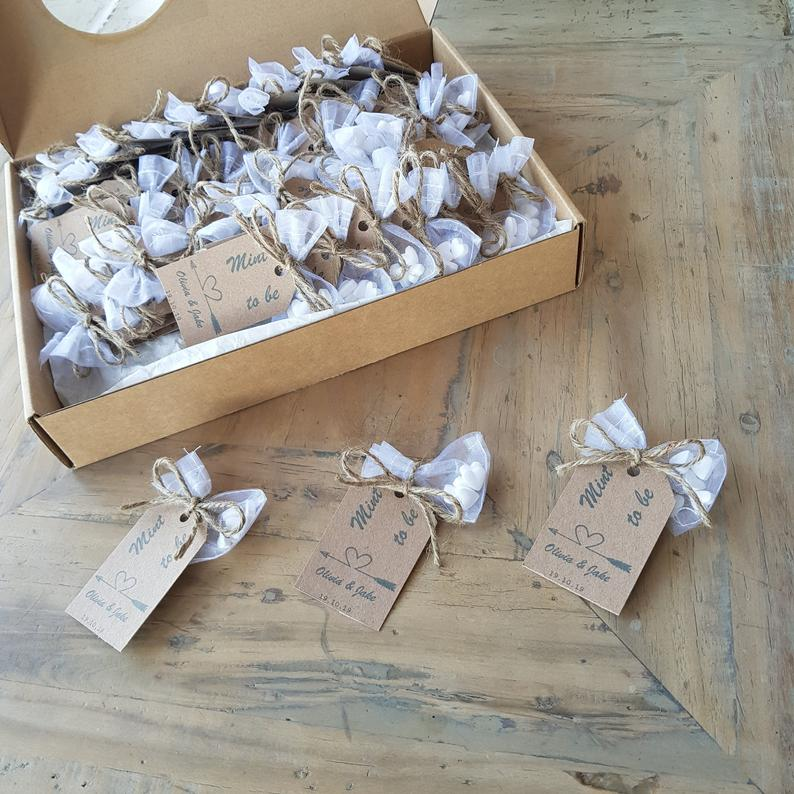 Alternative Personalised Mint Wedding Favour | 100 Cheap Wedding Favour Ideas For Under £1 Each! | realwedding.co.uk