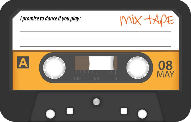 realwedding.co.uk | 100 Cheap Wedding Favour Ideas For Under £1 Each! | Cassette Tape - Song Request RSVP Card