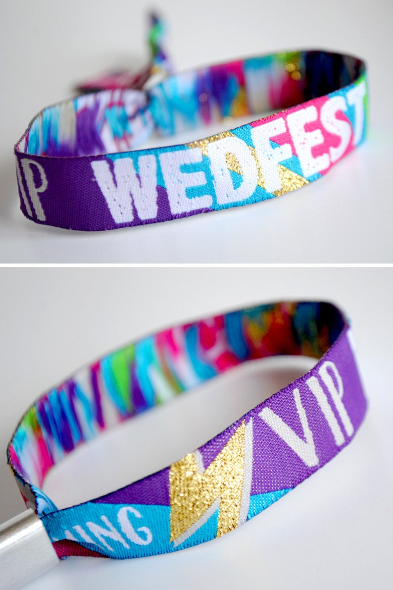 realwedding.co.uk | 100 Cheap Wedding Favour Ideas For Under £1 Each! | Wedfest Festival Wedding Wristband