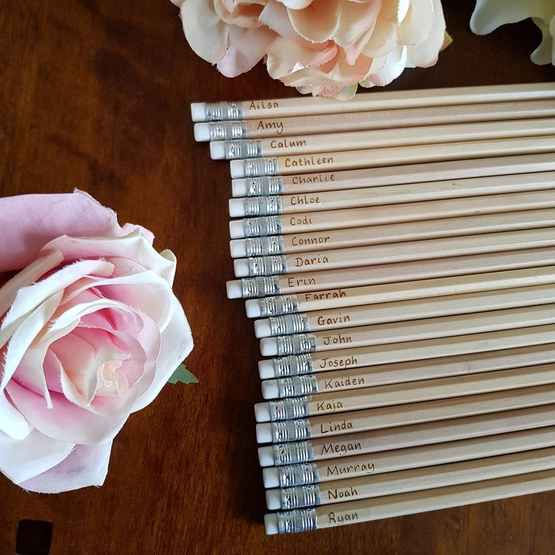 realwedding.co.uk | 100 Cheap Wedding Favour Ideas For Under £1 Each! | Personalised HB Pencils