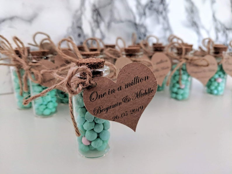 realwedding.co.uk | 100 Cheap Wedding Favour Ideas For Under £1 Each! | One in a Million Glass Bottles