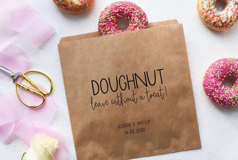 Doughnut Leave Without | 100 Cheap Wedding Favour Ideas For Under £1 Each! | realwedding.co.uka Treat!