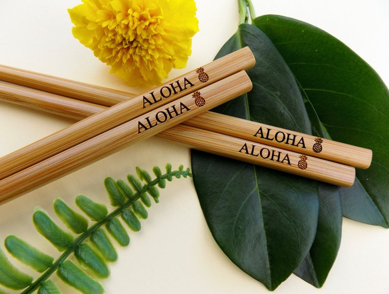 Engraved Bamboo Chopsticks | 100 Cheap Wedding Favour Ideas For Under £1 Each! | realwedding.co.uk
