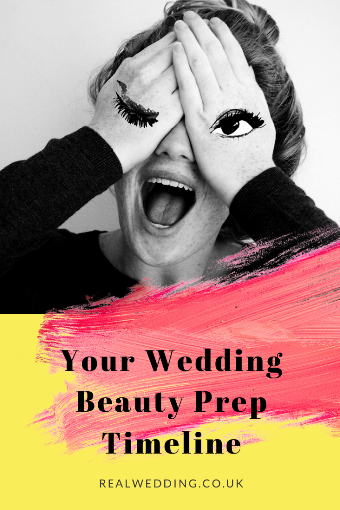 Your wedding beauty prep timeline