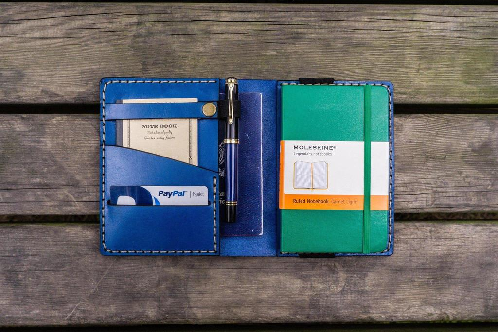 A Personalised Leather Pocket Moleskine Cover