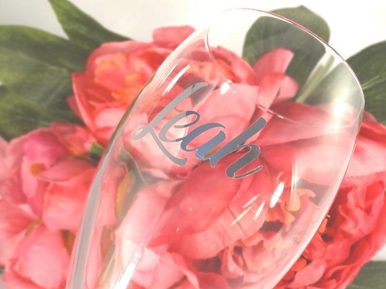Wine Glass Decal | realwedding.co.uk | 57 Wedding Favour Ideas Under £1 | Wine Glass Decal