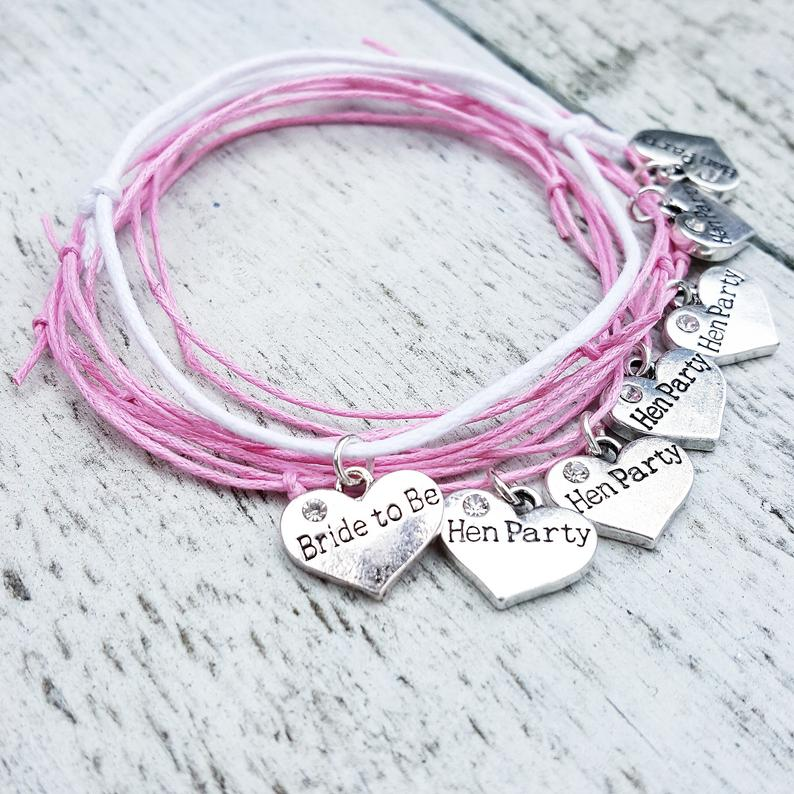 Hen Party Bracelets realwedding.co.uk | 57 Wedding Favour Ideas Under £1 |