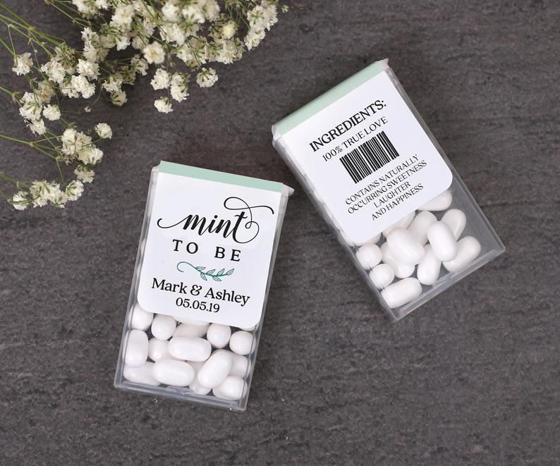 Mint To Be Tic Tac Wrap Labels l realwedding.co.uk | 57 Wedding Favour Ideas Under £1 |