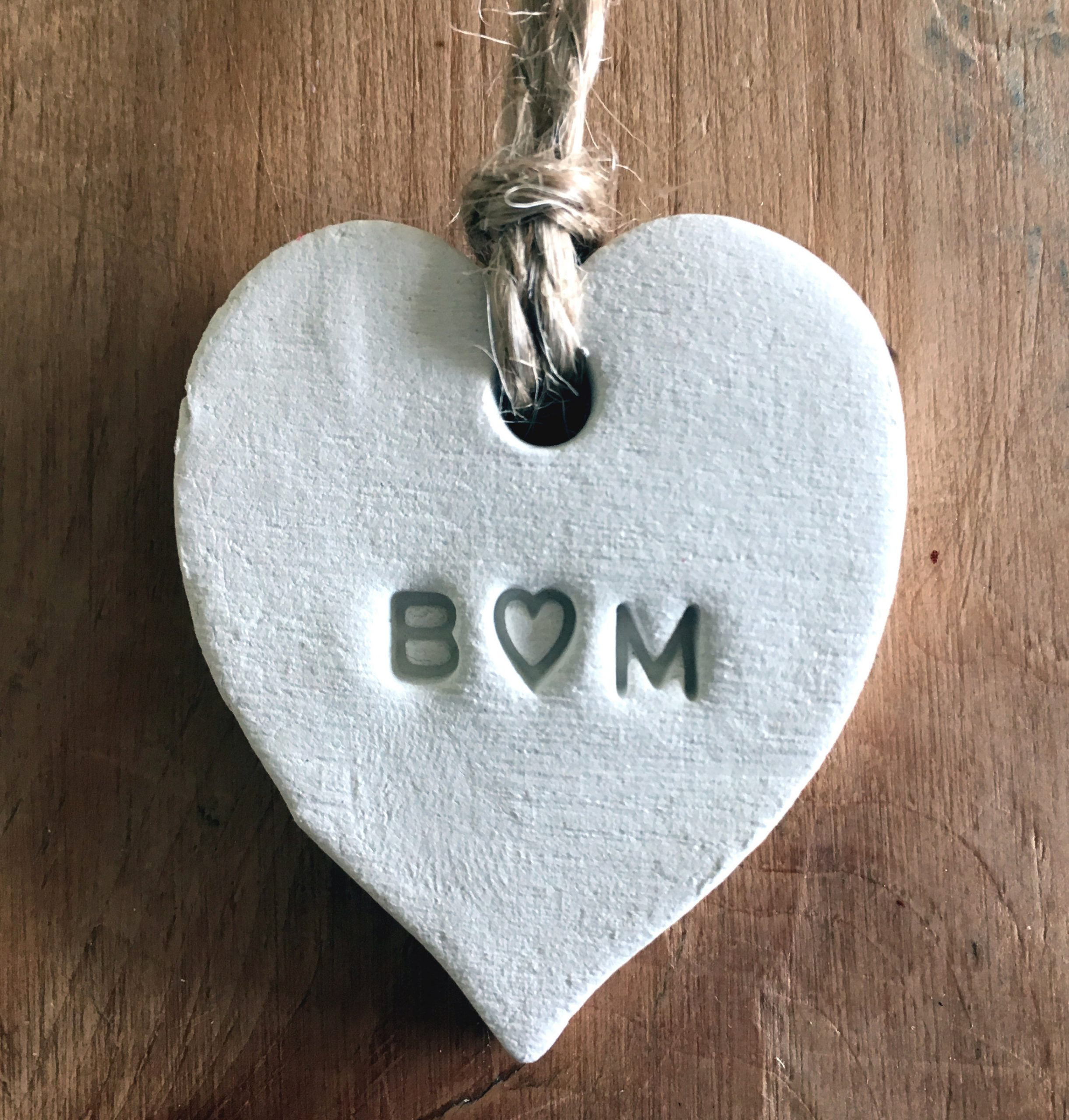 Clay heart tags - cheap wedding favours just just 45p each