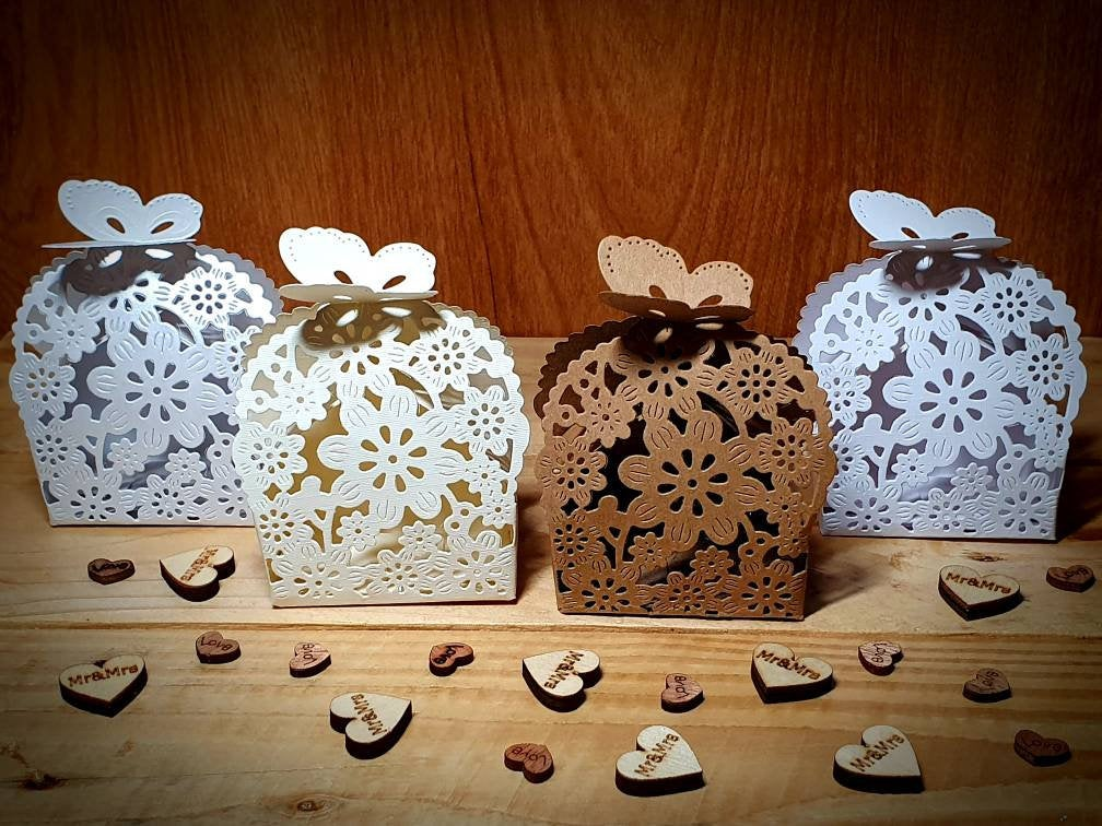 Floral Butterfly Favour Boxes