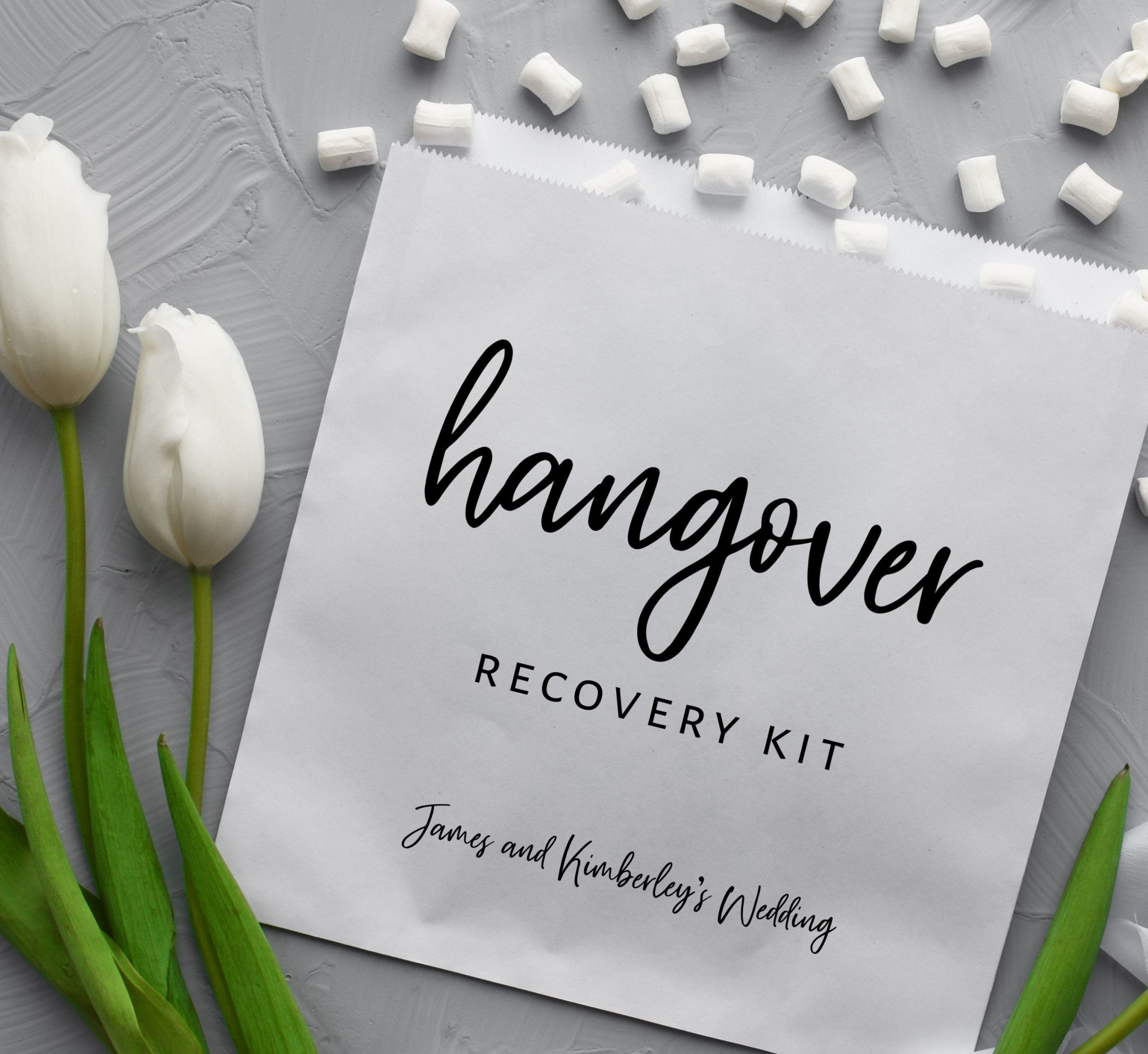 Hangover Recovery Kit Bags - Wedding Favours For Under 50p