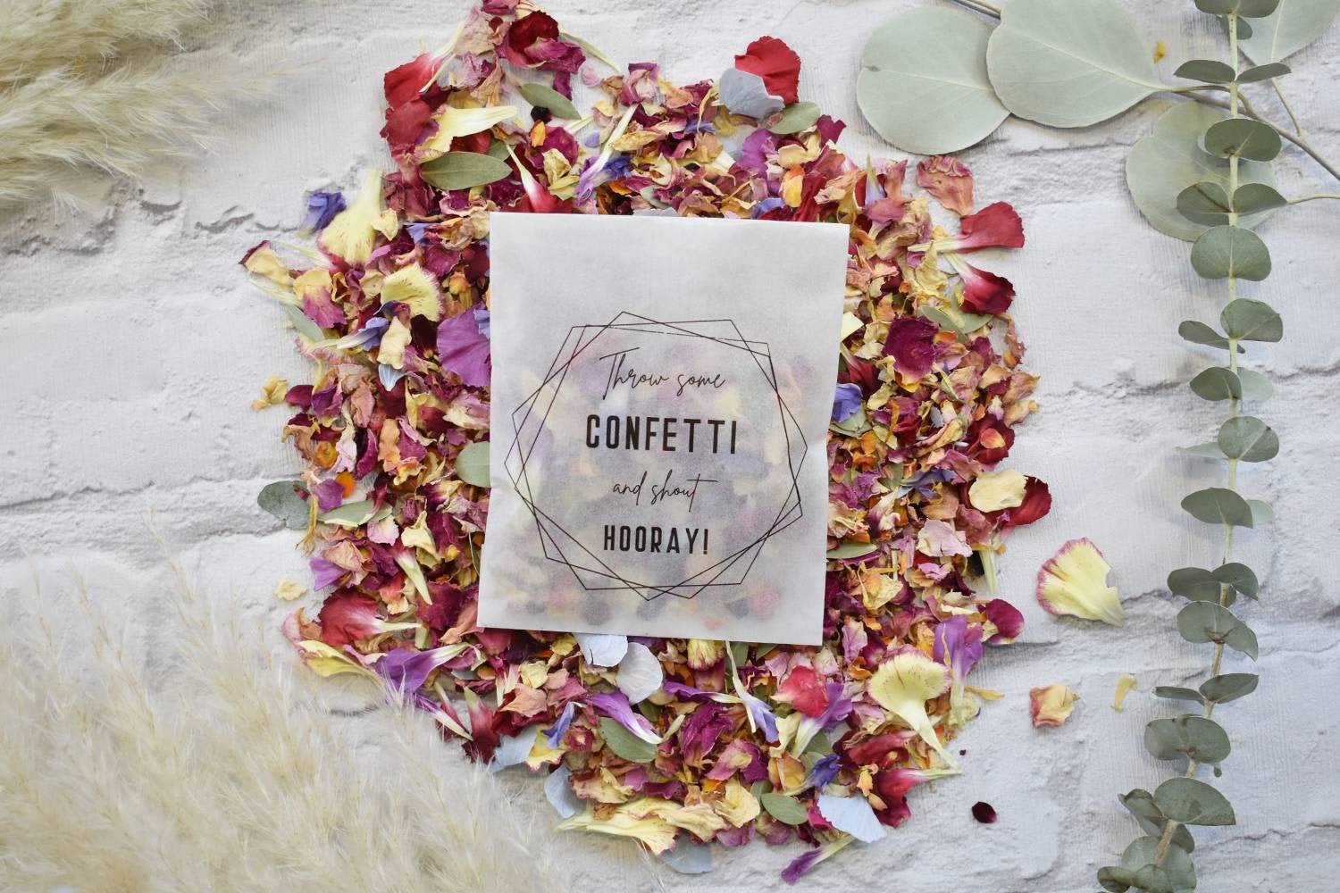 Large Luxury Biodegradable Confetti Packets