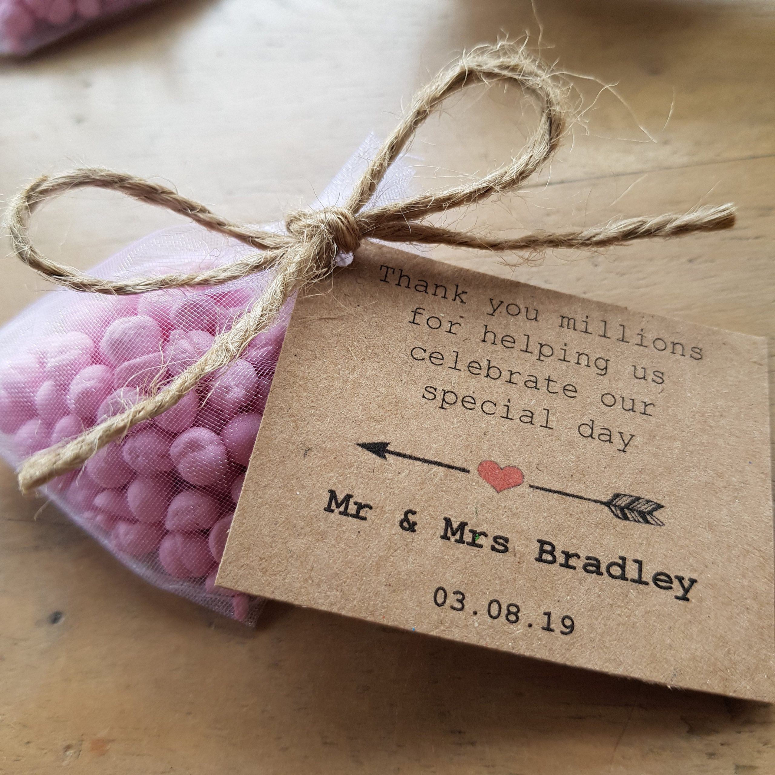 Personalised Sweets Wedding Favours
