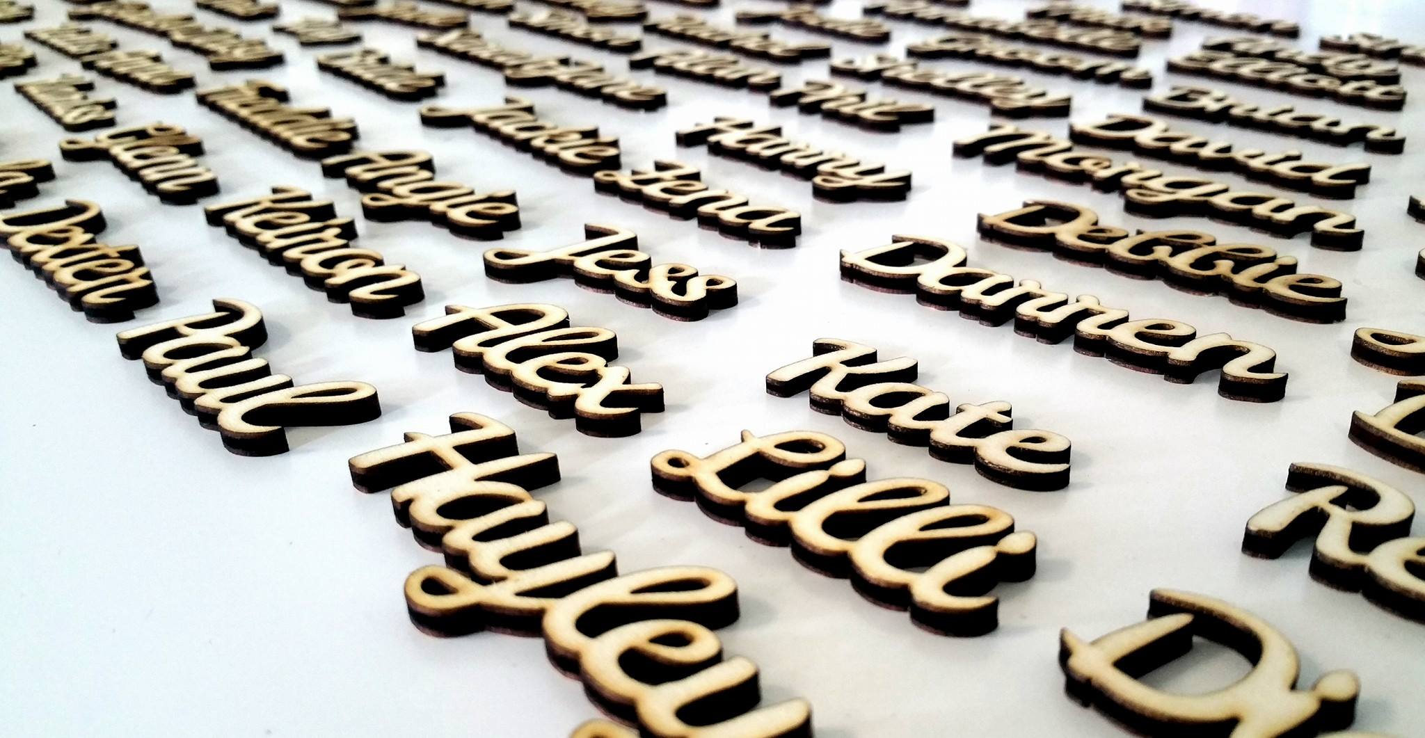 Wooden Place Names setting