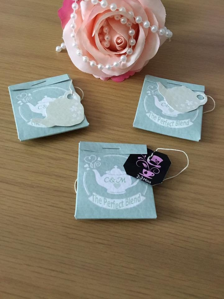 Teabag wedding favours