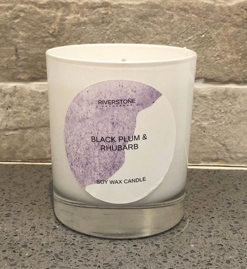Black Plum & Rhubarb Soy Wax Candle