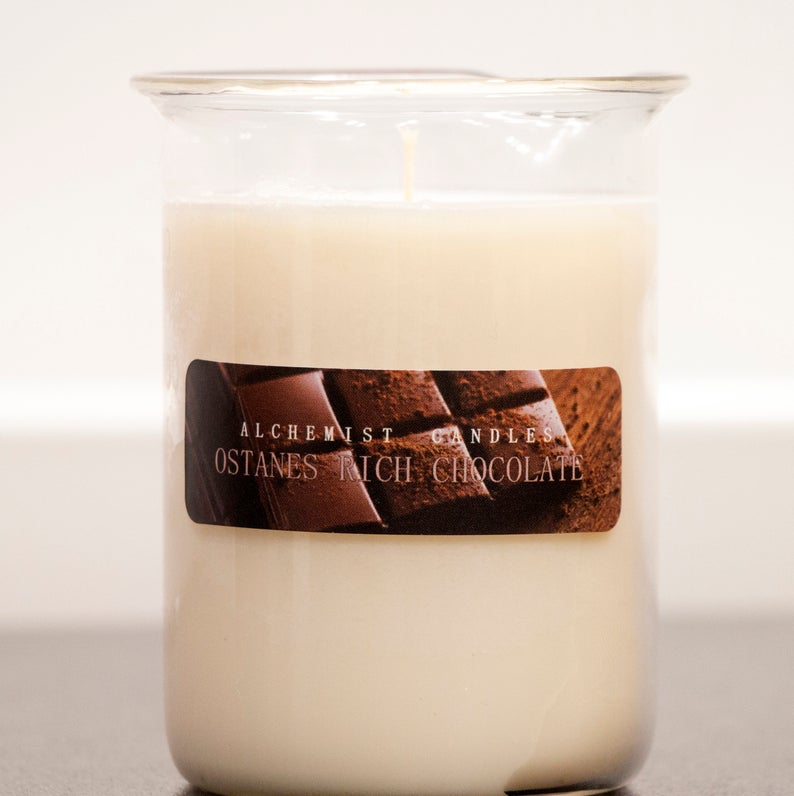 Scented Candle Belgian Chocolate By Alchemist Candles