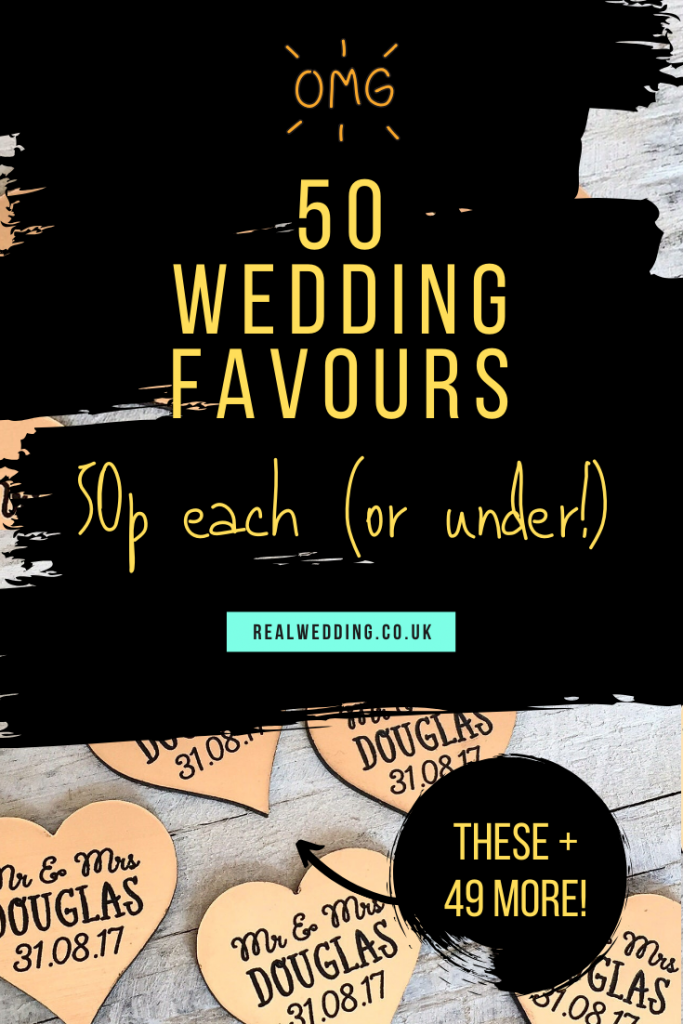 50p wedding favours guide!