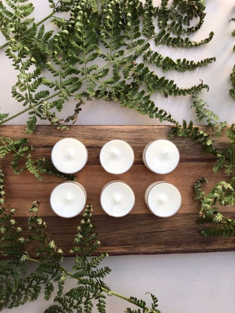 Six Eden Scented Aromatherapy Tealight Candle Wedding Favours