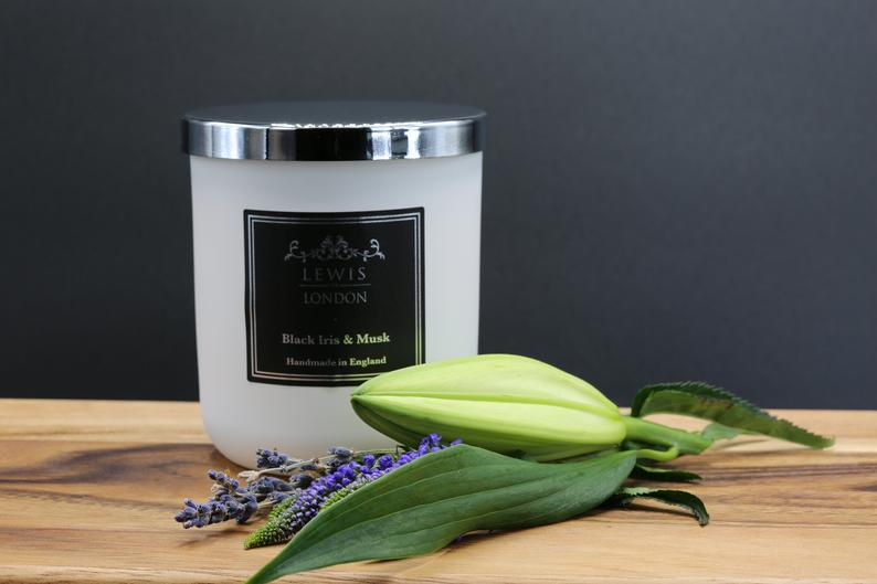 Black Iris and Musk Handmade Soy Candle