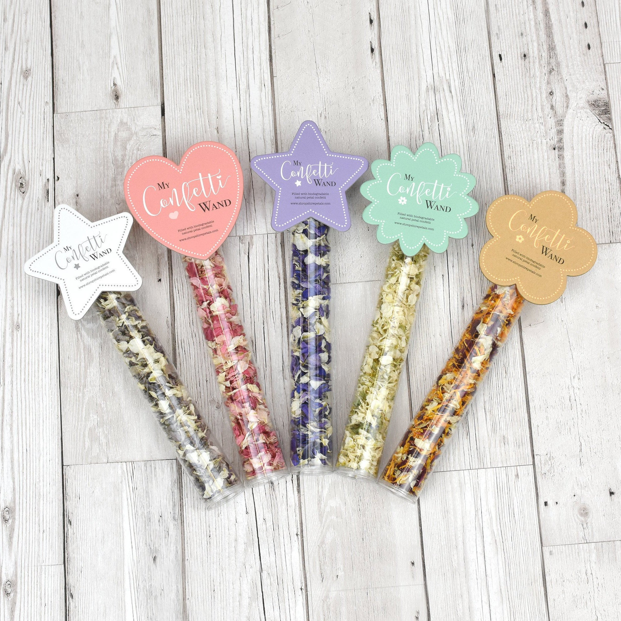 Children's Confetti Wands with Biodegradable Wedding Confetti