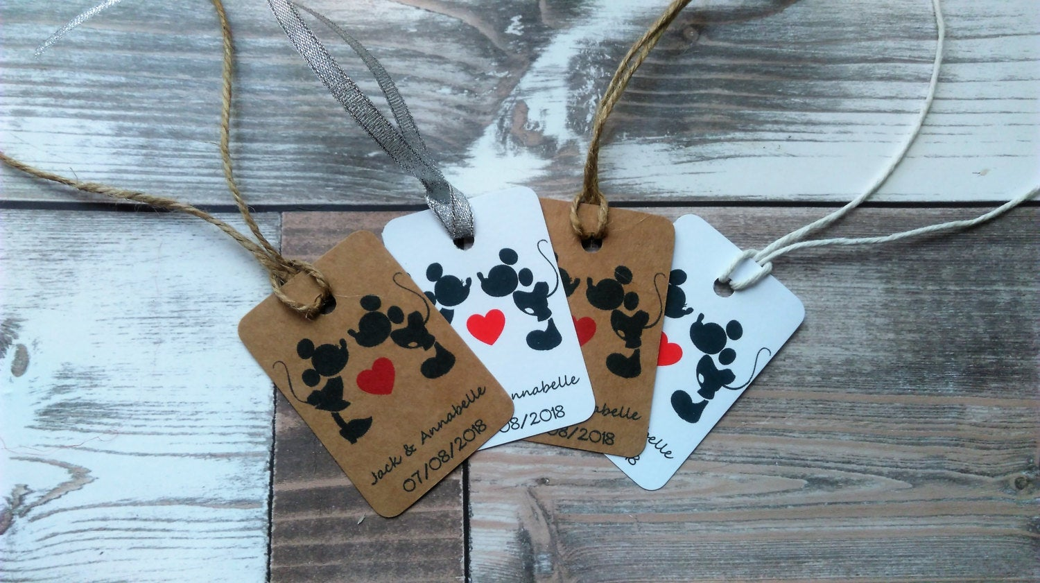 Disney Wedding tags