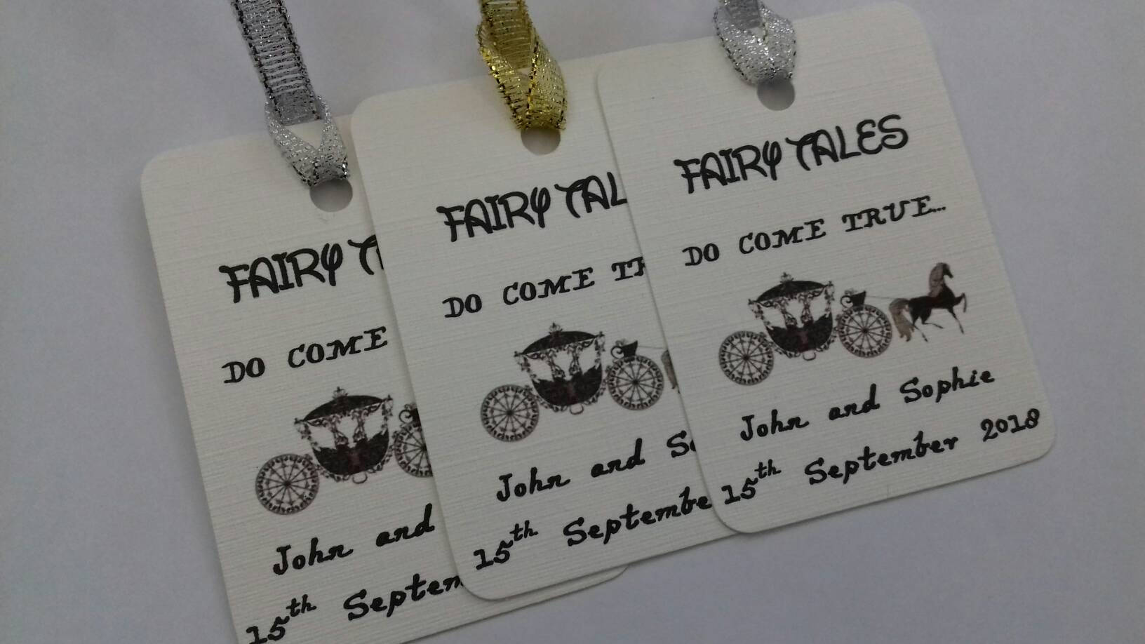 Fairy Tale Wedding Tags
