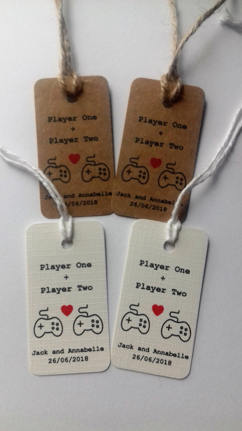 Gamer Wedding tags