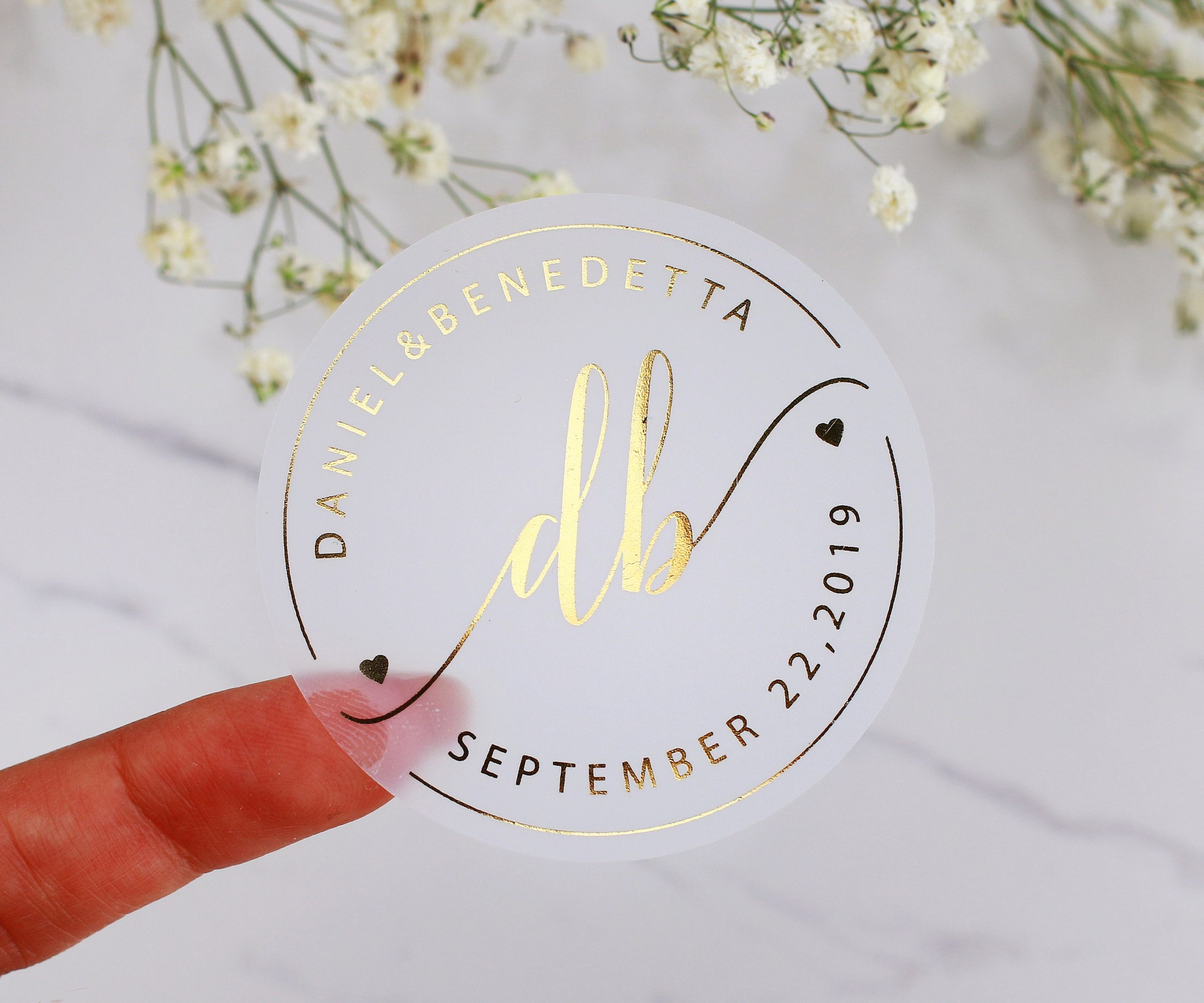 Gold Wedding Stickers