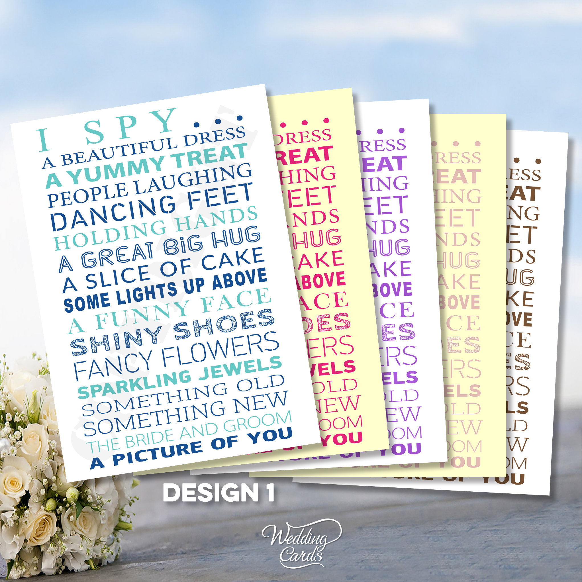 I Spy with my little eye Challenge cards