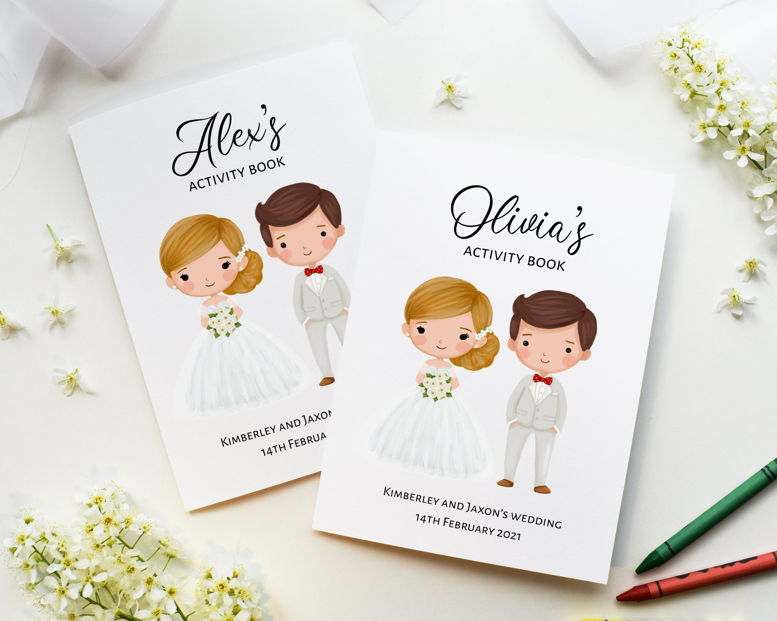 Kid's Wedding Activity Pack With Crayons: Children's Wedding Favours - Big Ideas For Your Little Guests