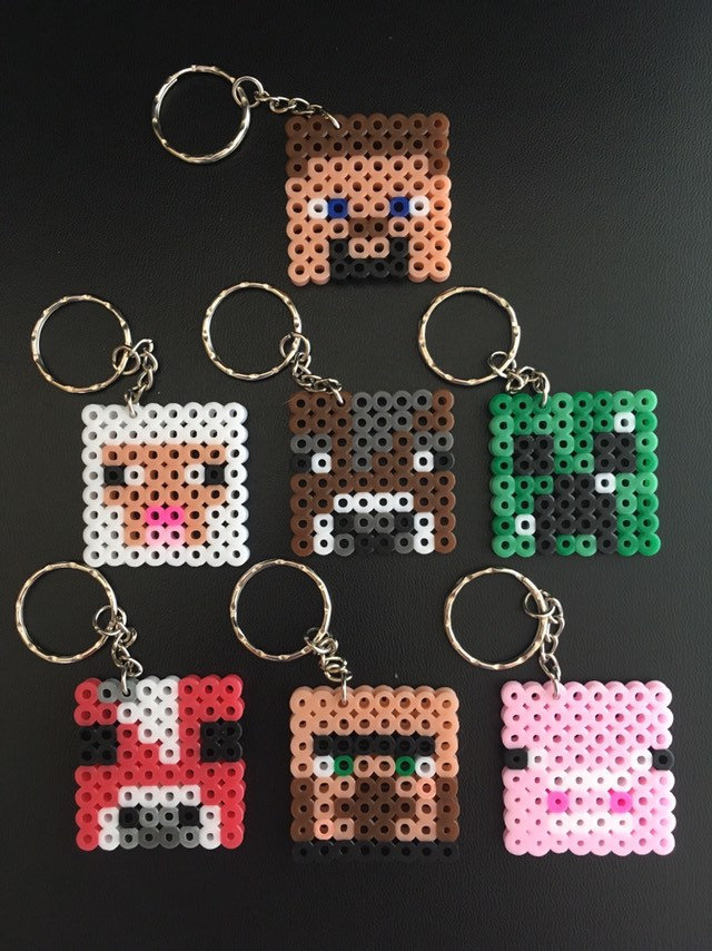 Minecraft Themed Keyrings