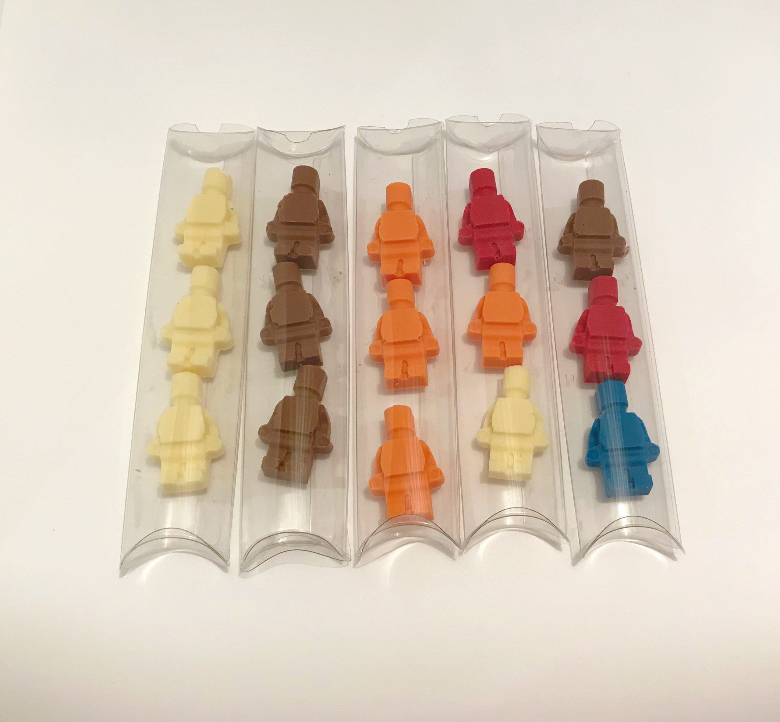Mini Lego Block Style Chocolate People: Children's Wedding Favours - Big Ideas For Your Little Guests