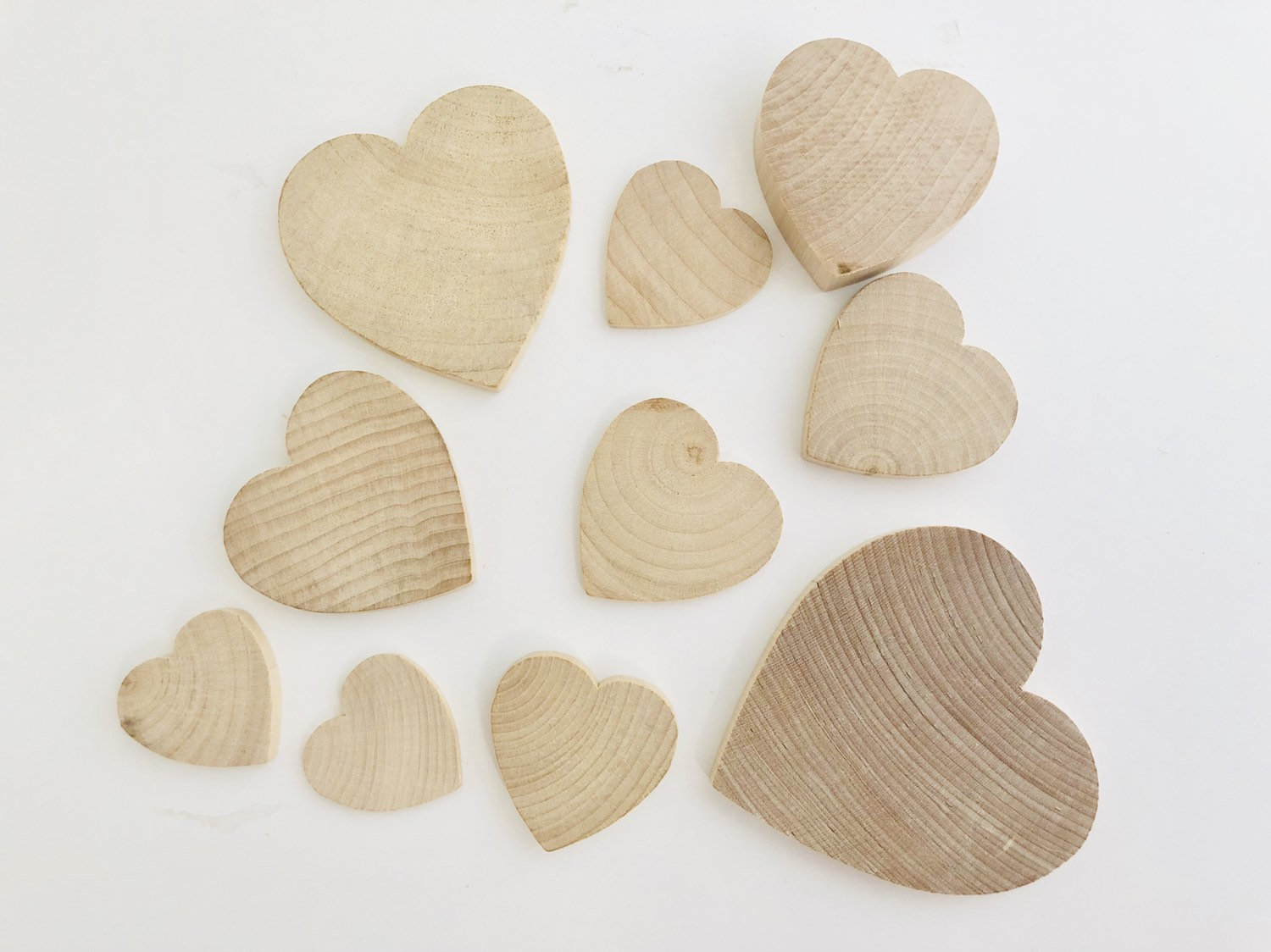 Natural Wooden Hearts
