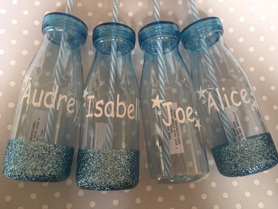Personalised Cup With Straw