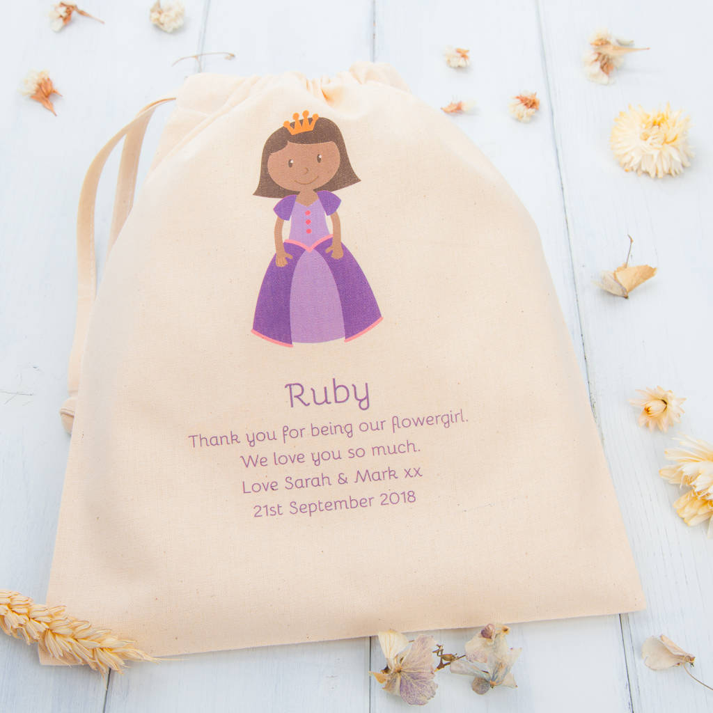 Personalised Thank You Flower Girl Bags