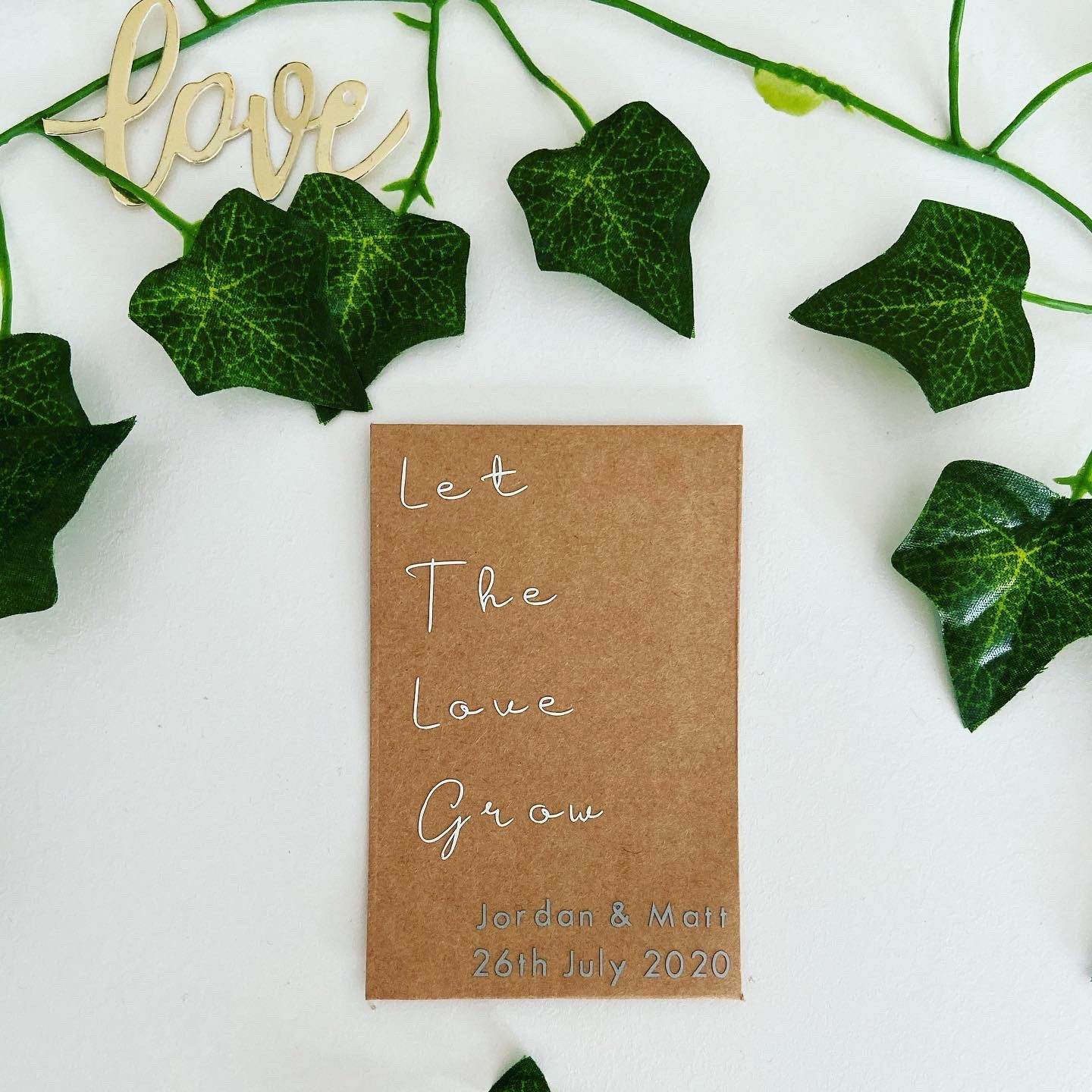 Seed Packet Wedding Favours in Personalised Envelopes