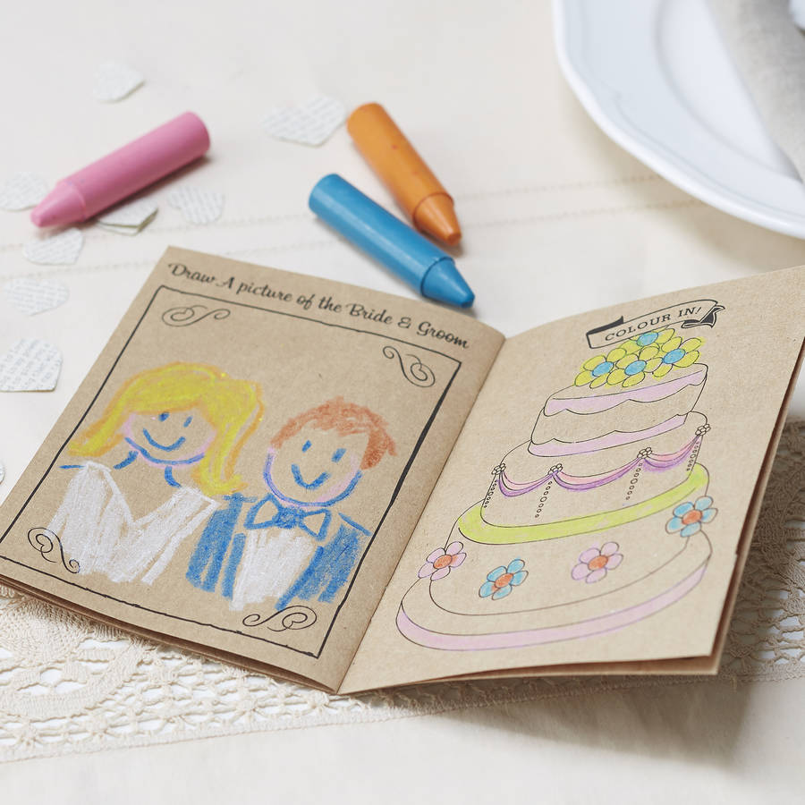Vintage Kraft Kids Entertainment Wedding Activity Book