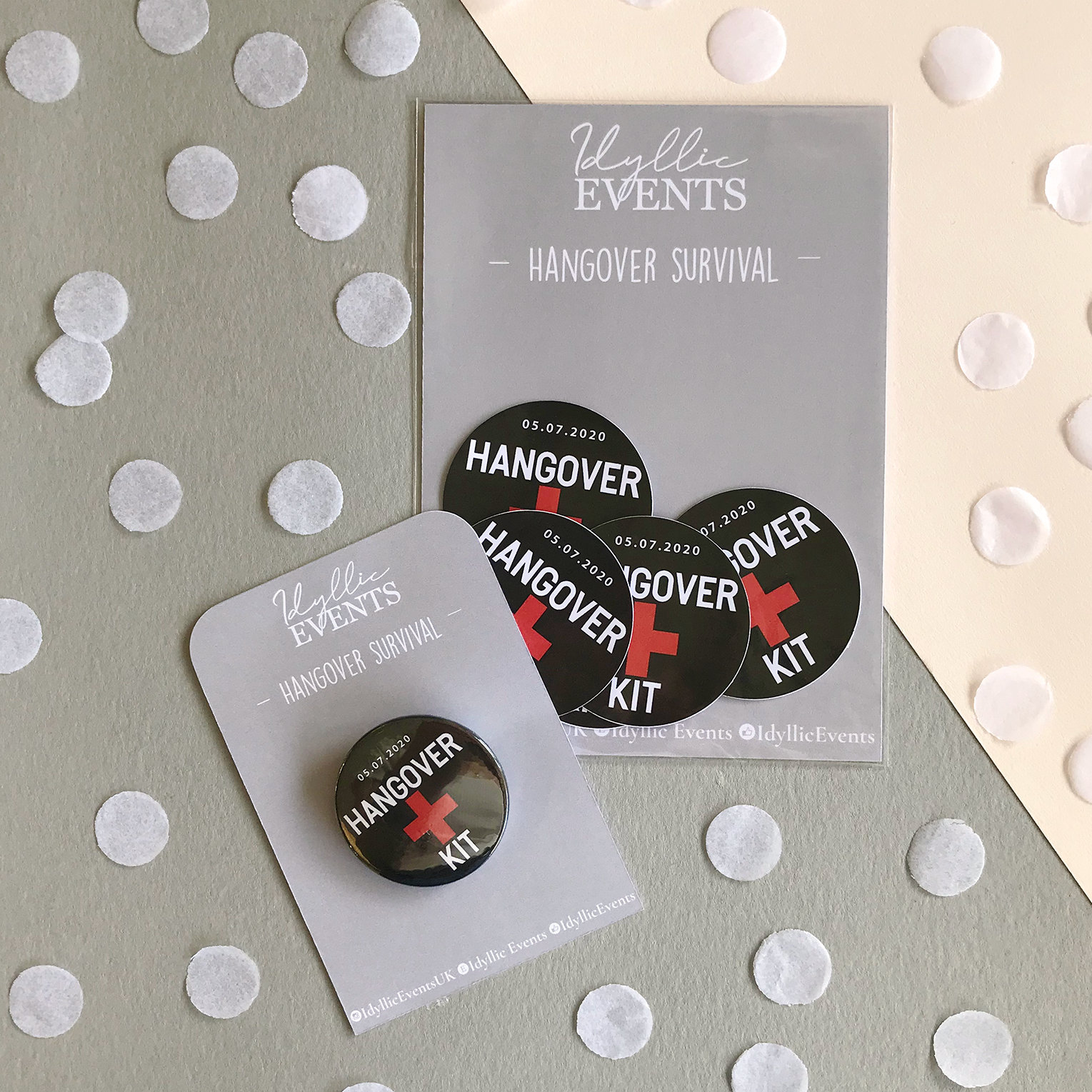 Wedding Hangover kit Stickers