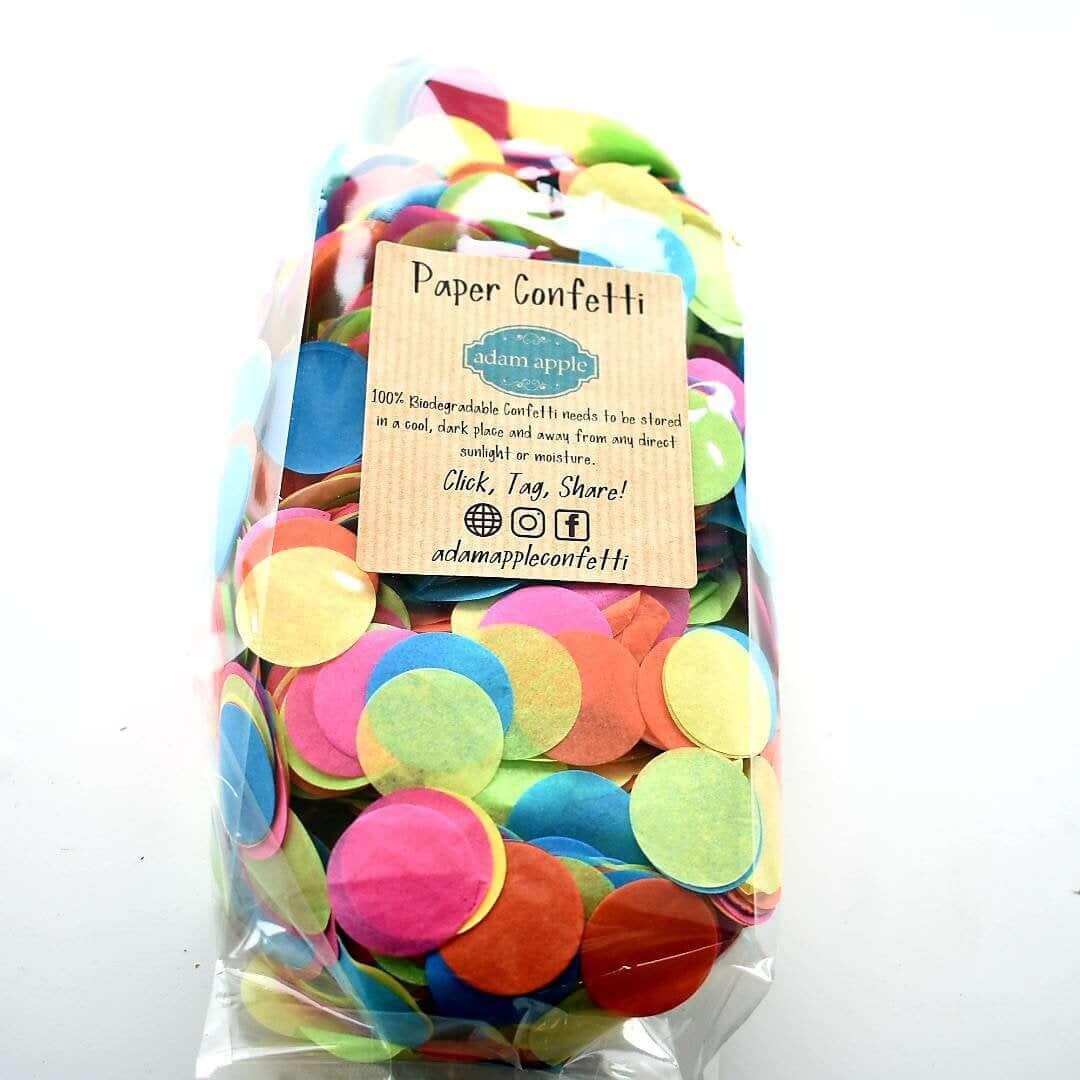 Rainbow Paper Circle Confetti Eco-Friendly Wedding Favours