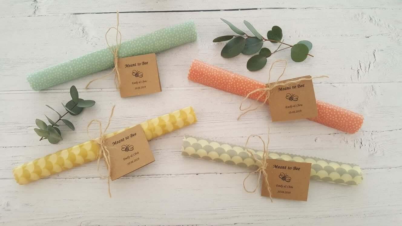 Eco-Friendly Wedding Favours beeswax wraps